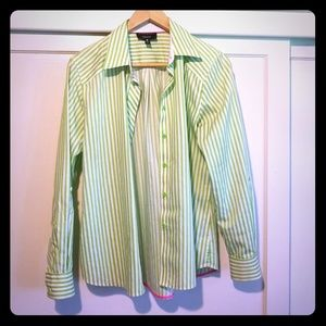 Green striped FOXCROFT Shirt